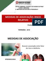 Medidas de Associação - risco relativo