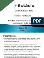 Tratamento Fisioterapêutico nas Luxações de Bankart