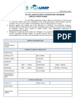 UMP (PGA) Committee Application Form