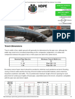 Standard Trench Dimensions _ Trench Width for HDPE Pipe _ Minimum Trench Widths.pdf