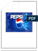 Starting Pages of Pepsi Project
