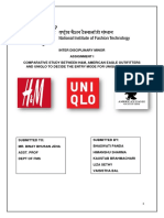 COMPARATIVE STUDY OF UNIQLO, AEO AND H&M