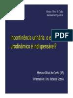 incontinncia urinria- estudo urodinmico
