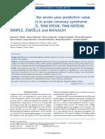 6. Filipiak. Comparison of the seven-year predictive value