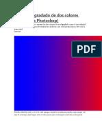 Separar degradado de dos colores y silabus de corel