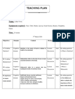 Nutrition teaching plan