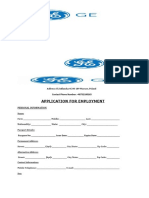 General Electric (GE) Application Form (1)
