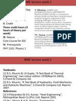 BME Midterm Week 1