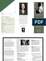 Milestones in Dance Brochure
