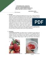 inf. laboratorio de biología ADN fresas