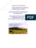 DOCUMENTOS DISOLUCION SEÑORÍO DE GALISTEO