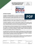Ficha técnica de juego de hematies para Inmunohematología