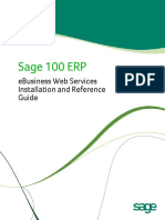 Sage 100 ERP eBusiness Web Services Installation and Reference Guide