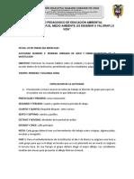 PROYECTO PEDAGOGICO DE EDUCACIÓN AMBIENTAL GUIA DE ACTIVIDADES