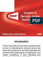 BWF Umpire & Service Judge Instructions - March 2019