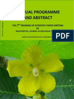 THE 2ND TRAINING OF SCIENTIFIC PAPER WRITING OF BIODIVERSITAS, JOURNAL OF BIOLOGICAL DIVERSITY
