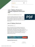 Tableau Shortcuts 【 100+ Tableau keyboard Shortcuts 】Tableau Tutorial