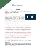 Questionário - teoria geral do serviço social