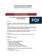 Supply Chain Management - Directrices Interfuncionales - Sílabo
