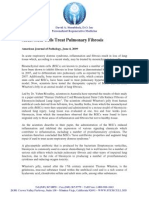 Adult Stem Cells Treat Pulmonary Fibrosis