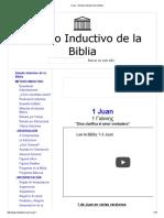 1 Juan - Estudio Inductivo de la Biblia