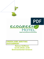 Green Jobs Writing Assignment