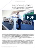 07-11-2019 Héctor Astudillo inaugura nueva escuela en Acapulco.