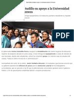 07-11-2019 Reitera Héctor Astudillo su apoyo a la Universidad Autónoma de Guerrero.