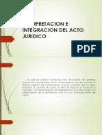 INTERPRETACION E INTEGRACION DEL ACTO JURIDICO (1)