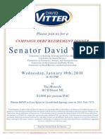 Campaign Debt Retirement Dinner for David Vitter