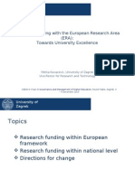 "Melita Kovacevic, Vice-Rector, University of Zagreb, ""Research Funding with the European Research Area (ERA)"