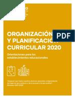 ORGANIZACIÓN Y PLANIFICACIÓN CURRICULAR 2020