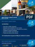Ville de Québec - réfection de l'avenue Cartier