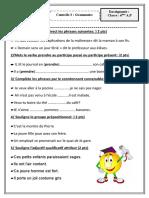 contrôle 3 grammaire 2014