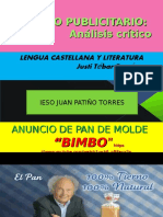 ANÁLISIS CRÍTICO DE UN ANUNCIO PUBLICITARIO