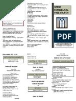 Church Bulletin - December 12th