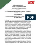 LEY DE  APROVECHAMIENTO DE MINERALES NO METALICOS DEL ESTADO ARAGUA