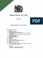 Official Secrets Act 1989
