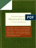 história de la ética - Vol III, Victoria Camps