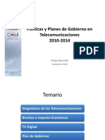 Ministro Felipe Morandé, Telecom  011210
