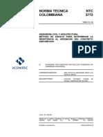 NTC 3772 Método de Ensayo para Determinar la Resistencia al Arranque del Concreto Endurecido.pdf