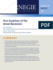 Five Surprises of the Great Recession