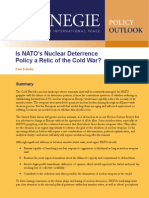 Is NATO's Nuclear Deterrence Policy a Relic of the Cold War?