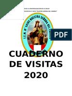 CUADERNO DE VISITAS   2020
