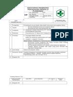 SPO 05 MONITORING PENERAPAN PENCEGAHAN INFEKSI DI PUSKESMAS