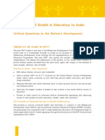 The Status Of Health & Education In India Critical Questions in the Nation's Development