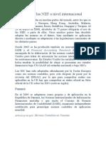 Adopción de las NIIF a nivel internacional (lo llevas en tu usb)