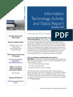 December 2010 IT Status Report