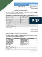 Registro Entrega de EPP