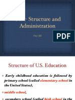 US - Structure and Administration